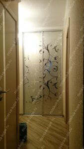 Зеркальные двери с рисунком